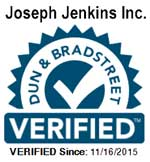 Joseph Jenkins Inc. is verified by Dun and Bradstreet.